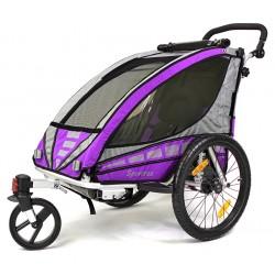 QERIDOO SPORTREX1 aluminijska prikolica za bicikl/kolica - 2U1 - sa amortizerima (za 1 dijete)