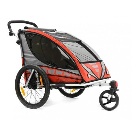 QERIDOO SPORTREX2 aluminijska prikolica za bicikl/kolica - 2U1 - sa amortizerima (za 2 djece)