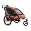 QERIDOO SPORTREX2 aluminijska prikolica za bicikl/kolica - 2U1 - sa amortizerima (za 1 ili 2 djece)