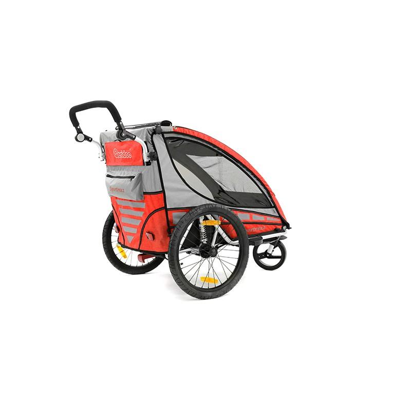 qeridoo sportrex2 aluminijska prikolica za bicikl kolica. Black Bedroom Furniture Sets. Home Design Ideas