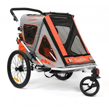 QERIDOO SPEEDKID2 aluminijska prikolica za bicikl/kolica - 2U1 - sa amortizerima (za 1 ili 2 djece)