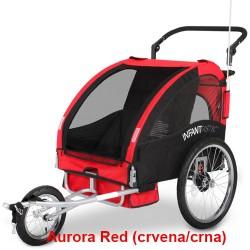 Prikolica za bicikl - KOLICA - 2U1 - sa amortizerima / AURORA RED
