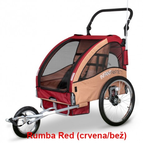 Prikolica za bicikl - KOLICA - 2U1 - sa amortizerima / PRAIRE SAND