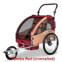 Prikolica za bicikl - KOLICA - 2U1 - sa amortizerima / RUMBA RED