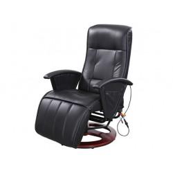 Grijana masažna kožna fotelja