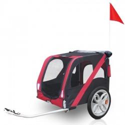 Prikolica za bicikl za prijevoz pasa - RED FUSION