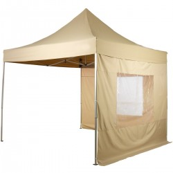 PROFESIONALNI EASY UP aluminijski paviljon - šator bež boje 3 X 3 m