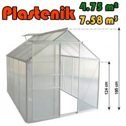 Plastenik 190 X 250 cm - 4.75m2 - 7.58m3