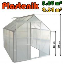 Plastenik 190 X 310 cm - 5.89m2 - 9.54m3