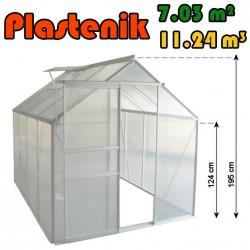Plastenik 190 X 370 cm - 7.03m2 - 11.24m3