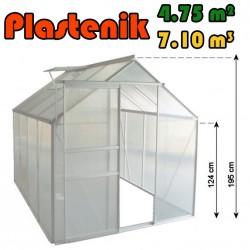 Plastenik 250 X 190 cm - 4.75m2 - 7.10m3