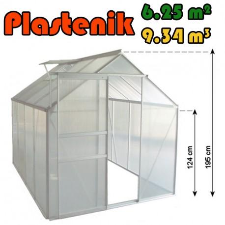 Plastenik 250 X 250 cm - 6.25m2 - 9.34m3