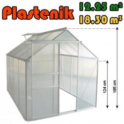 Plastenik 250 X 490 cm - 12.25m2 - 18.30m3