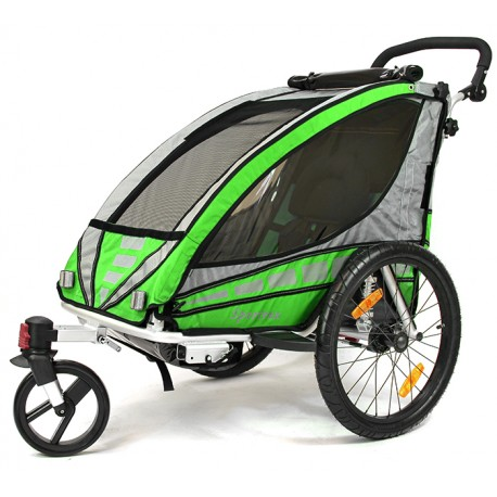 QERIDOO aluminijska prikolica za bicikl/kolica - 2U1 - sa amortizerima (za 1 dijete)